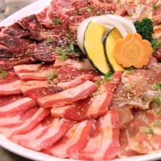 豚焼肉セット盛合せ 770円(税抜)