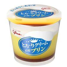 とろ~りクリームonプリン 97円(税抜)