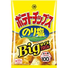 湖池屋 Bigサイズポテトチップス のり塩 198円(税抜)