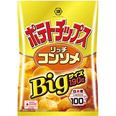 湖池屋 Bigサイズポテトチップス リッチコンソメ 198円(税抜)