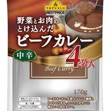 野菜とお肉の溶け込んだビーフカレー中辛 298円(税抜)