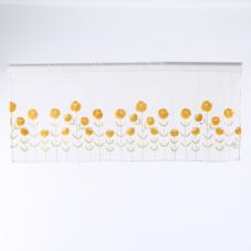 刺繍フラワーカフェカーテン 300円(税抜)