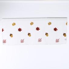 刺繍秋モチーフカフェカーテン 300円(税抜)