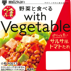 with Vegetable サルサ風トマトたれ 78円(税抜)