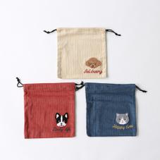 アニマル刺繍巾着 300円(税抜)