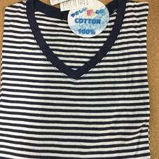 ボーダーロングリブTシャツ 599円(税抜)