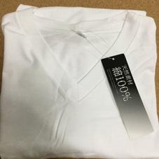 天然素材 綿100% VネックTシャツ 399円(税抜)