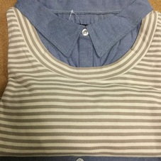 フェイクレイヤードシャツ 婦人 1,190円(税抜)