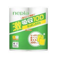 ネピア激吸収 キッチンタオル100 278円(税抜)