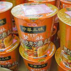 中華三昧カップ酸辣湯麺 108円