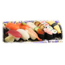 【寿司】おすすめにぎり 其の壱(サーモントラウト入り 10貫+細巻) 580円(税抜)