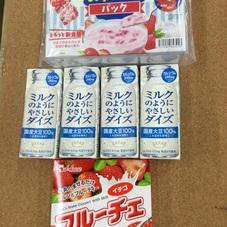 ミルクのようにやさしいダイズ+フルーチェいちご 399円(税抜)