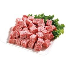 ビーフ&チキン サイコロステーキ(成型肉・解凍) 98円(税抜)