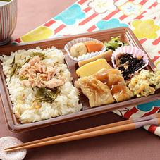 秋鮭ご飯の幕の内(もろみチキン) 498円