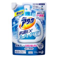 アタック抗菌EXスーパークリアジェル詰替用(770g) 188円(税抜)