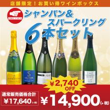 シャンパン&スパークリング6本セット 14,900円(税抜)