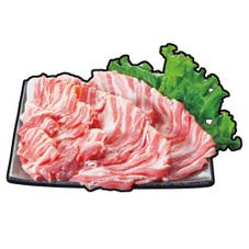 豚バラうす切り、焼肉各種 128円(税抜)