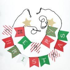 クリスマスフェルトロゴガーランド2P (レッド/グリーン) 300円(税抜)
