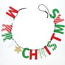 クリスマスフェルトロゴガーランド (レッド/グリーン) 300円(税抜)
