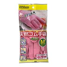 天然ゴム手袋 中厚手 M ピンク 5ポイントプレゼント
