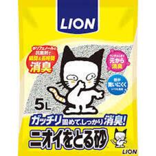 ペットキレイ ニオイをとる砂 5L 458円(税抜)