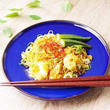 海老とオクラのシンガポール風焼きビーフン(増量) 499円(税抜)