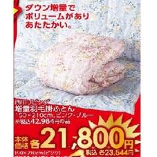 増量羽毛掛ふとん 21,800円(税抜)