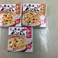 ちょっと雑炊(とり さけ かに) 168円(税抜)