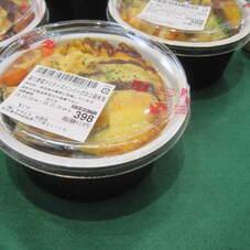 彩り野菜デミチーズハンバーグの2段弁当 398円(税抜)