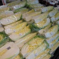 白菜1/4カット 78円(税抜)