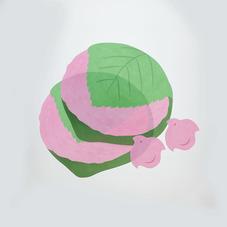ランチョンマット・コースターセット(桜餅) 300円(税抜)