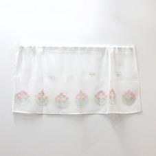 刺繍ミツバチフラワーカフェカーテン 300円(税抜)