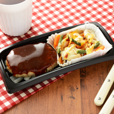 鉄板焼ハンバーグ&野菜チーズ焼 399円