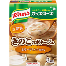 クノールカップスープ ミルク仕立てきのこのポタージュ 158円(税抜)