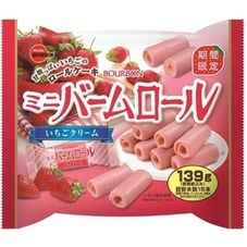 ミニバームロール(いちごクリーム) 158円