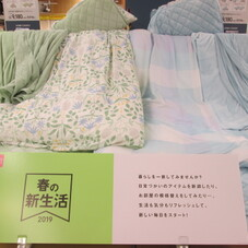 1年中使える寝具10点セット(ブルー・グリーン)シングル各種 9,180円(税抜)