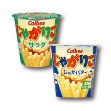 じゃがりこ サラダ60g/じゃがバター58g 77円(税抜)