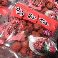 かつお梅 袋 298円(税抜)