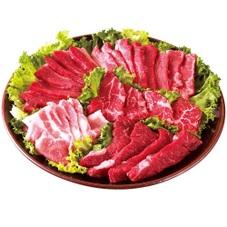 牛豚焼肉セット4種盛り【牛肉:オーストラリア産・アメリカ産、豚肉:アメリカ産】 1,480円(税抜)