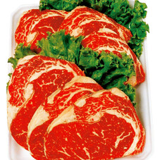 牛肉ロースステーキ焼肉、すき焼き用 199円(税抜)