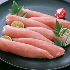 若鶏ササミ(サラダ用)※解凍 78円(税抜)