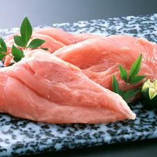 桜姫鶏ムネ肉(解凍含む) 77円(税抜)