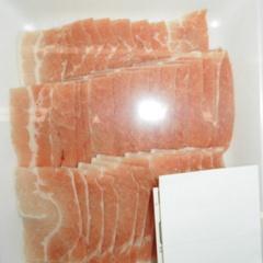豚肉ばらうす切(解凍) 98円(税抜)