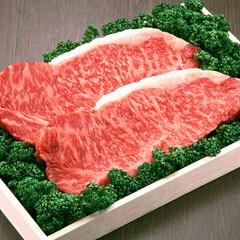 牛肉ステーキ用(サーロイン)または(ロース) 680円(税抜)