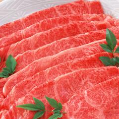 牛肉(かたロース)・うす切り・冷しゃぶ用 398円(税抜)