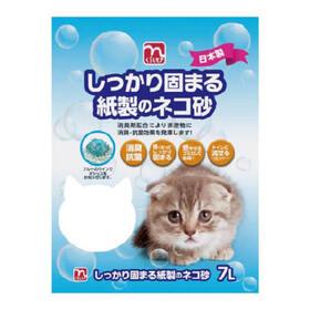 しっかり固まる紙製のネコ砂 428円(税抜)