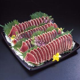 一本釣り炭火焼かつおタタキスライス 194円(税込)