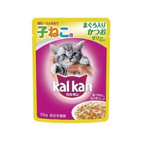 カルカンパウチ子猫用まぐろ入りかつお70g 55円(税抜)