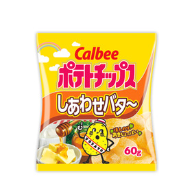 ポテトチップスしあわせバター 60円(税込)