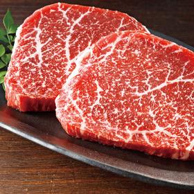 すえまつさん家のべつかい牛 ももステーキ用 498円(税抜)